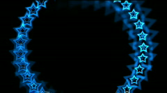 Abstract  blue stars made up of aura hole tunnel vj background. Stock Footage