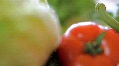 Vegetables, pan shot Stock Footage
