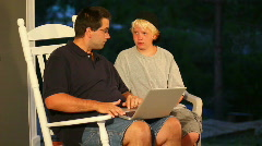 Outdoor Laptop Users 1775 Stock Footage