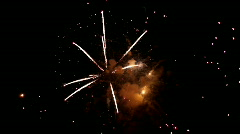 Fireworks exploding in night sky Stock Footage