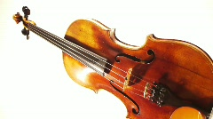 Violin Turning Vertically Stock Footage
