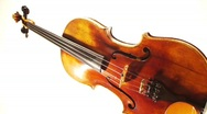 Stock Video Footage of Violin Turning Vertically