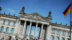 German Parliament Reichstag in Berlin - stock footage