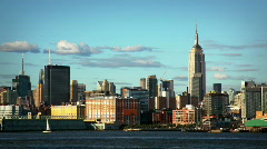 Stock Video Footage of Empire State Building skyline sunset