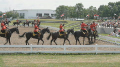 Canadian Mounted Police Musical Ride Performance In Ottawa RCMP Stock Footage