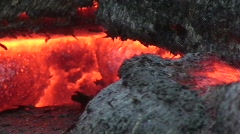 Hawaiian Lava Flow HD 3 Stock Footage