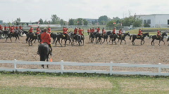 Canadian Mounted Police Parade Musical Ride  Stock Footage