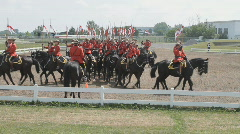 RCMP Mounties Perform The Musical Ride On Horseback  Stock Footage