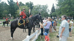 Mounties Meet Families After The Musical Ride Stock Footage