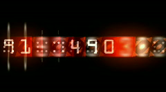 Numbers & words scrolling across the screen,finance digital tech data backgroun Stock Footage