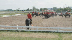 RCMP Musical Ride Display Horse Show In Ottawa - stock footage