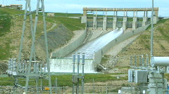 Hydro Power Dam and substation OM 10 Stock Footage