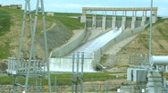 Stock Video Footage of Hydro Power Dam and substation OM 10