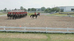 Royal Canadian Mounted Police Musical Ride Stock Footage