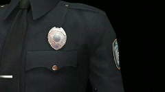Police Badge and Arm Patch 1 Stock Footage