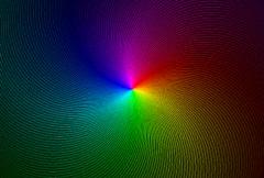 Spinning Rainbow Spiral NTSC - stock footage