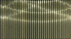 Waving light on metal strips,stainless-steel lines rhythm,vj music backdrop. Stock Footage