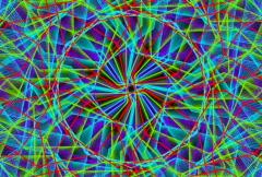 Electric Mandala Loop NTSC - stock footage