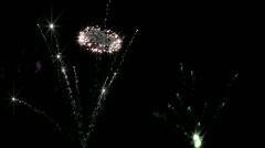 Fireworks on Black HD Stock Footage