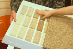 Multicolor Carpet Examples Stock Footage