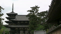 Horyuji Temple Stock Footage