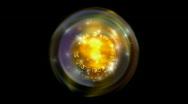 Rotation tech energy & golden dynamic light ball background. Stock Footage
