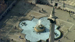 Aerial London Nelson Column Stock Footage
