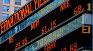 Stock Video Footage of Stock Market Ticker
