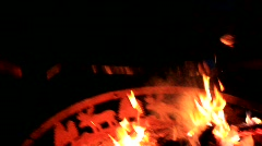 Making S'mores over a  campfire (HD) m Stock Footage
