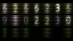 Numbers scrolling across the metal background,finance digital tech data backdro Stock Footage