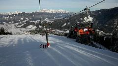 Ski elevator Austria Stock Footage