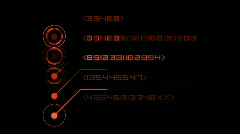 Numbers scrolling across the screen,finance digital tech data background. Stock Footage