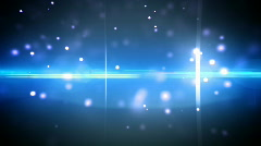 Particles and optical flares blue loop - stock footage
