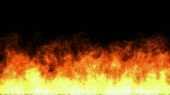 Hot Fire burning background,Abstract powerful particle smoke power energy. Stock Footage