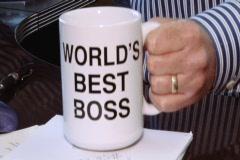 World's Best Boss Mug Stock Footage
