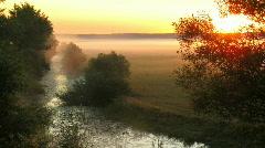Time lapse. fog on sunrise. 24 fps. Stock Footage