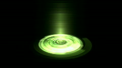 Rotation tech energy circle interface field launch rays laser,time tunnel emiss - stock footage