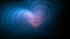 Love heart background,Valentine's Day symbol,design pattern backdrop. Stock Footage