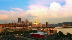 Pittsburgh Sunset Timelapse 1780 - stock footage