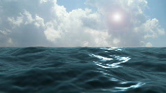 Blue Ocean Storm Clouds Stock Footage