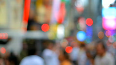 Blurred crowd, urban city background Stock Footage