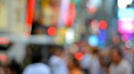 Blurred crowd, urban city background Stock Footage
