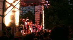 Rock Concert Dance Party Crowd 11 Stock Footage
