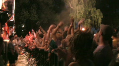 Rock Concert Dance Party Crowd (with audio) Stock Footage