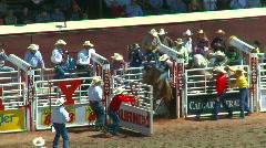 Rodeo, bareback bronc riding, #4 Stock Footage