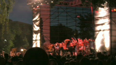 Rock Concert Dance Party Crowd 26 (with audio) Stock Footage