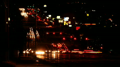 Night Traffic Seamless Loop Time Lapse - stock footage