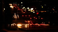 Night Traffic Seamless Loop Time Lapse Stock Footage