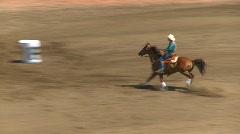 Rodeo, ladies barrel racing Stock Footage