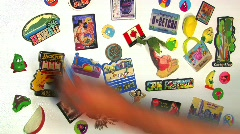 Travel Magnets Time Lapse Stock Footage